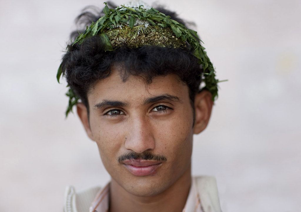 Flower Man from Asir - Saudi Arabia