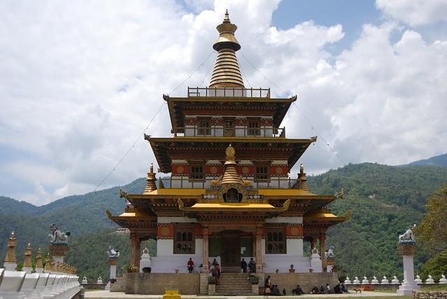 Khamsum Yaling namgyel Stupa in Punakha Dzong