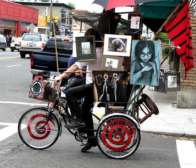 Mobile art gallery (37th & Hawthorne, Portland, Oregon) | Flickr