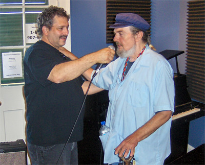 David Torkanowsky and Dr. John at WWOZ in 2009.