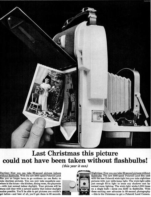 Polaroid Land Camera Advertisement - Ebony Magazine, December, 1959