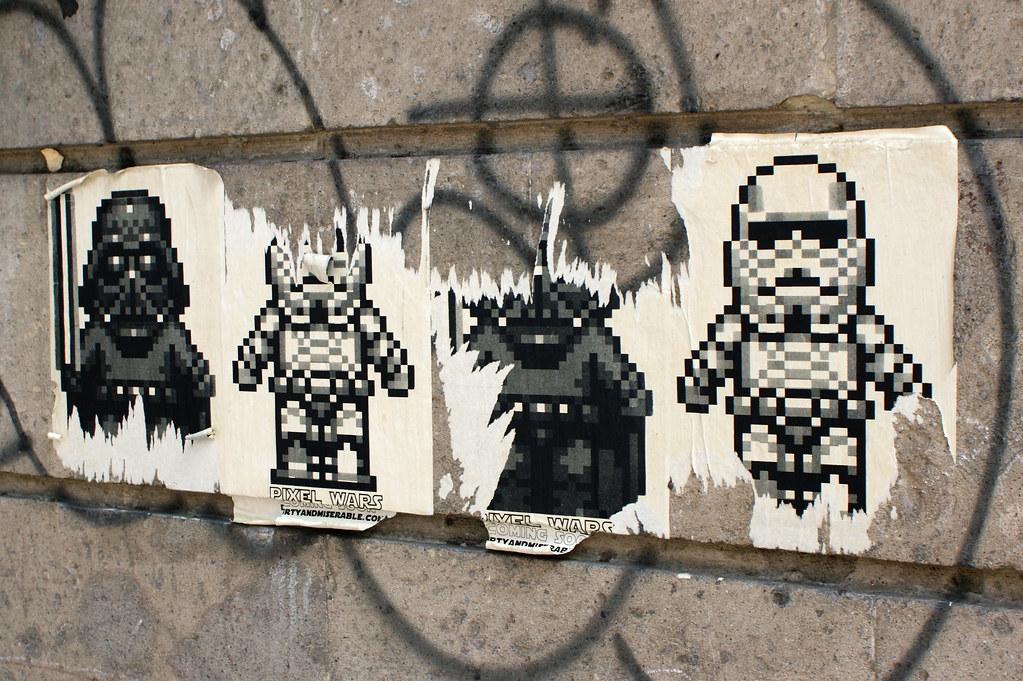 Vader Stormtroopers Sticker De Star Wars En Pixel Art En