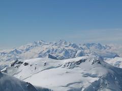 Vysoký tlak a čistý vzduch umožňují prohlídku Monte Rosy, nejvyšší hory Švýcarska.