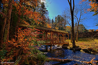 Willard Brook State Park Covered Footbridge | by Jeanette Runyon