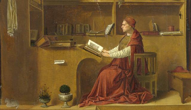 Antonello da Messina - Saint Jerome in his study room, detail