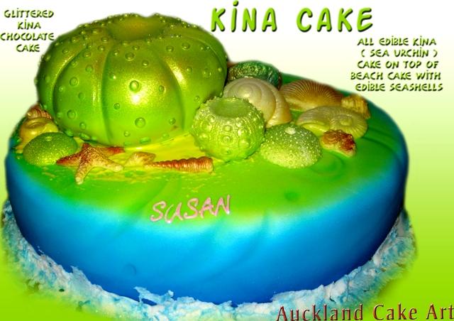 KINA SEA URCHIN BEACH BIRTHDAY CAKE