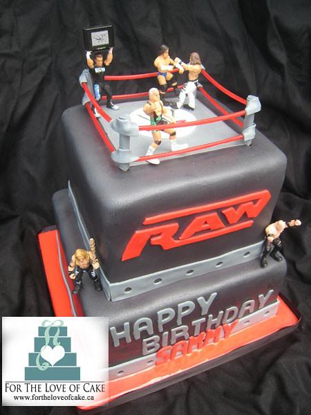 Remarkable Bc4068 Wwe Boys Birthday Cake Bc4068 Wwe Wrestling Cak Flickr Funny Birthday Cards Online Inifodamsfinfo