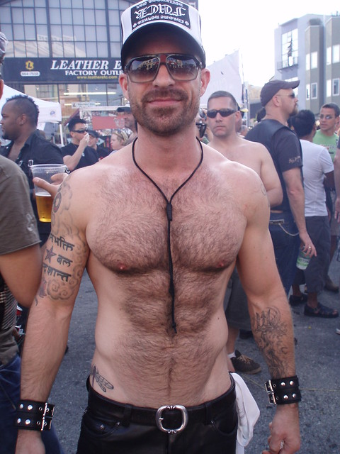 TOP 3 HUNKS AT THE FOLSOM STREET FAIR 2009 ! ~ HELLA HAIRY & HOT MUSCLE HUNK ! (  safe photo ) ( 200+ faves )