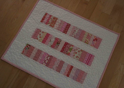 stacked coins doll quilt
