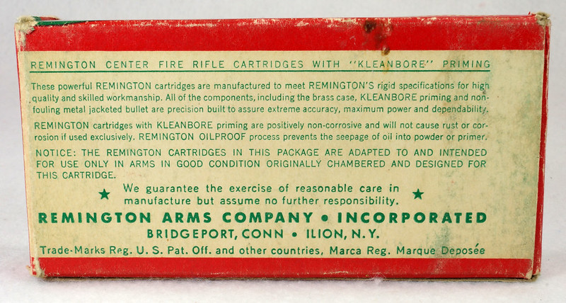 RD14570 Vintage Remington Kleanbore 300 Savage Express 180 Gr. Soft Point Ammo Box with 20 Empty Brass Casings DSC06997