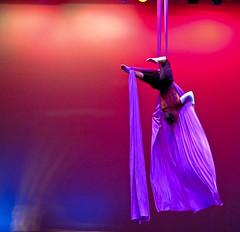 Aerial Silk - Art In Motion, Ross Ragland Performing Arts Center, Klamath Falls, Oregon