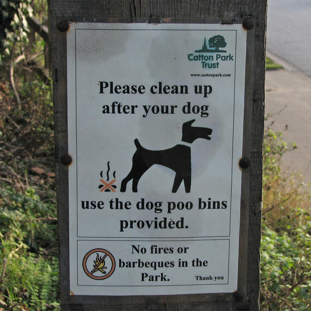Please clean up after your dog