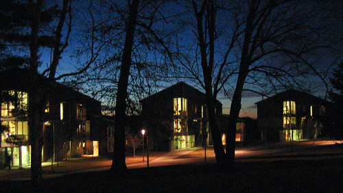 sunset college architecture night digital canon vermont dorm powershot bennington s500 canonpowershots500