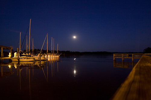 light moon lake reflection water night canon river cherry point landscape pier boat photo dock marine long exposure mood sailing nightscape time tokina photograph moonlight serene 28 base 50d 1116mm familygetty