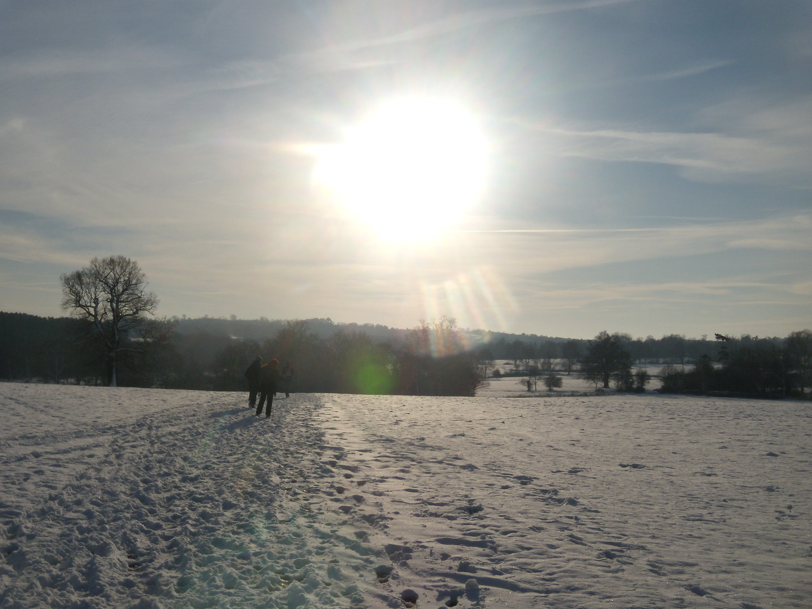 in the snow Hever to Leigh