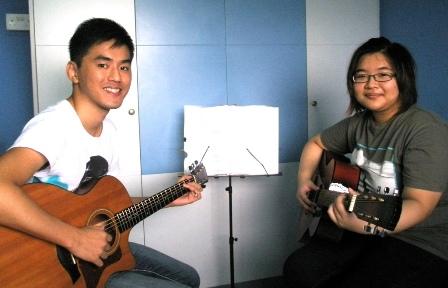 Private guitar lessons Singapore Shentel