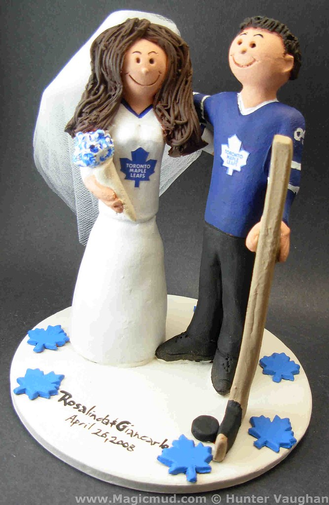 Toronto Maple Leafs Wedding Cake Topper Toronto Maple