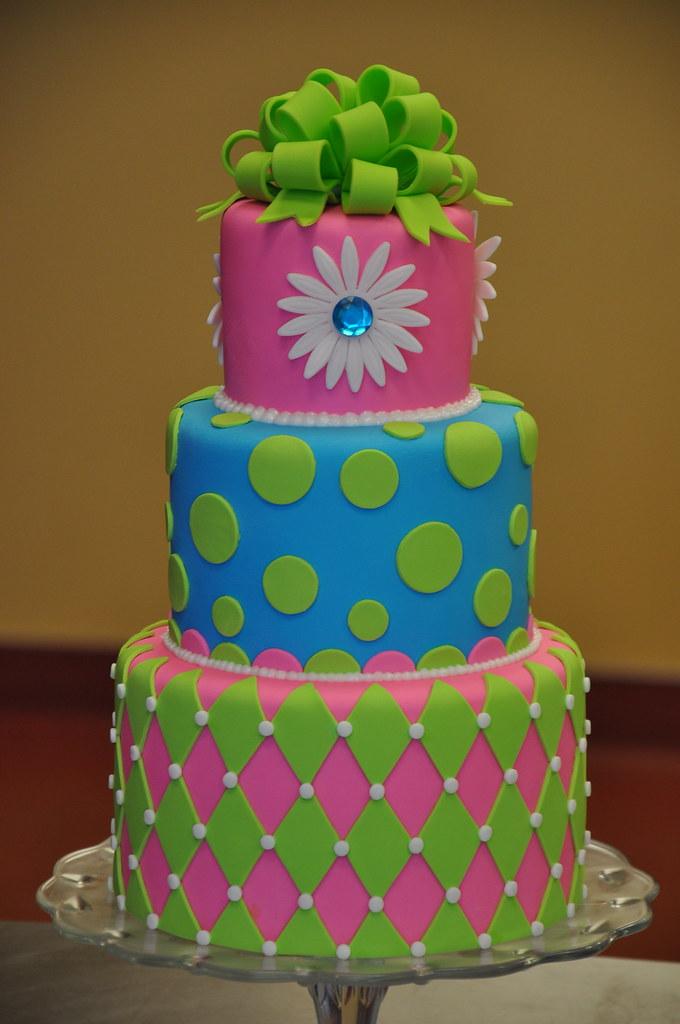 Fantastic Neon Birthday Cake April Flickr Birthday Cards Printable Riciscafe Filternl