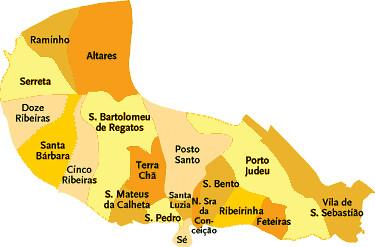 Concelho De Angra Do Heroismo Mapa Das Freguesias Jorge Bastos