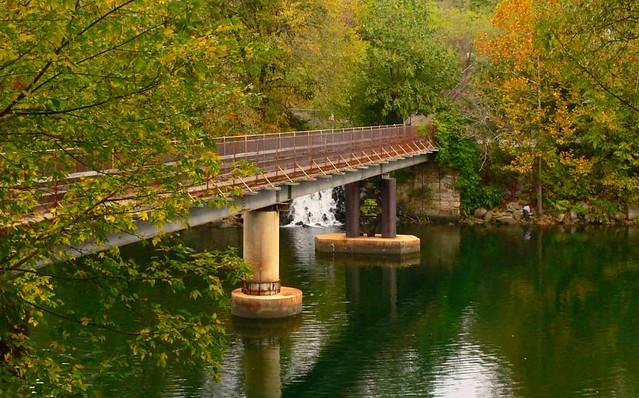 Nathaniel Ellicott footbridge in Fall