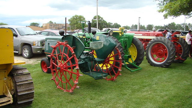 Old tractors on display