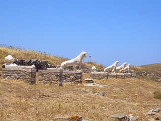 Lions at Delos Ruins | by osiristhe