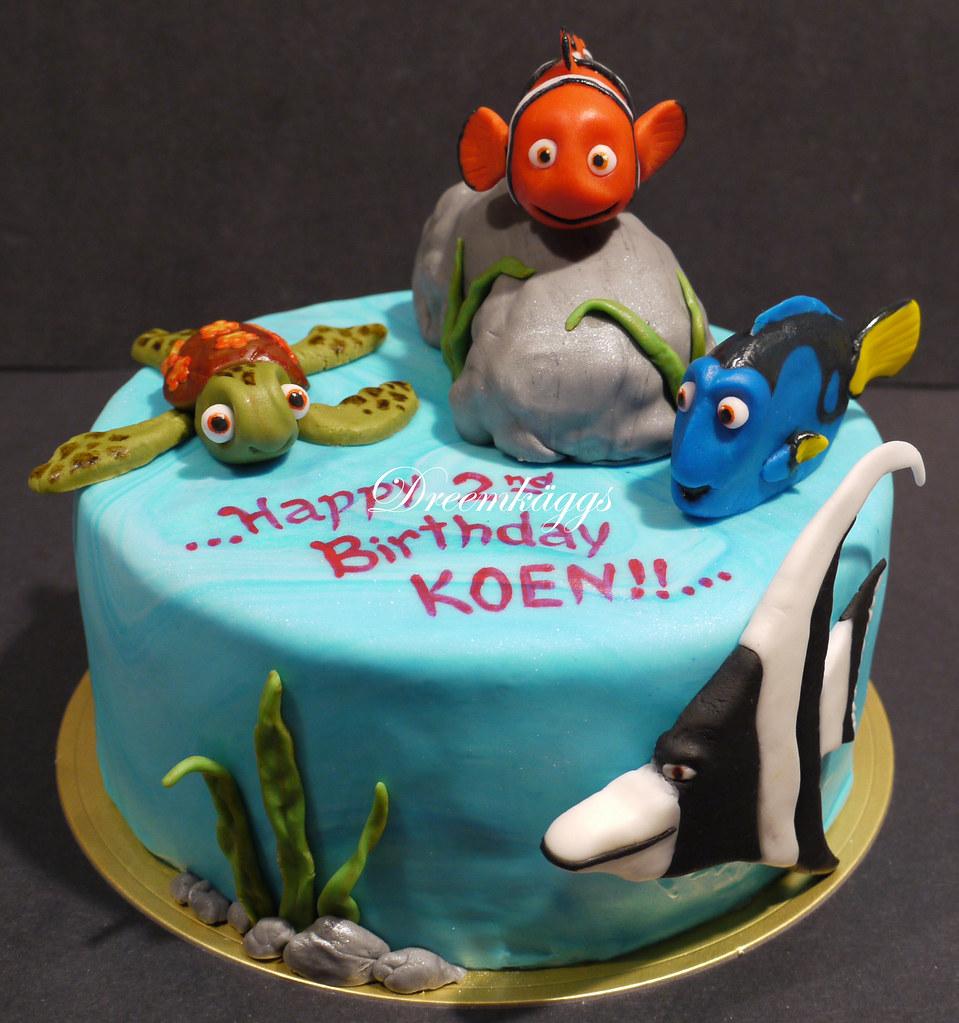 Magnificent Koens Nemo Birthday Cake Anna Dreemkaggs Gmail Com Flickr Funny Birthday Cards Online Drosicarndamsfinfo