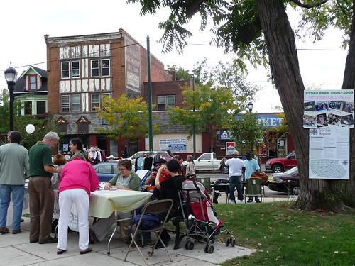 The Cedar Park Neighborhood table and raffle ticket sale | by Shana L. McDanold