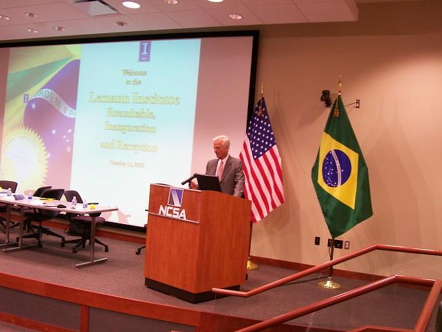 Lemann Institute for Brazilian Studies Inauguration. NCSA Auditorium. Oct. 15, 2009
