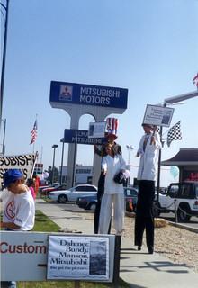 Mitsubishi protest 2