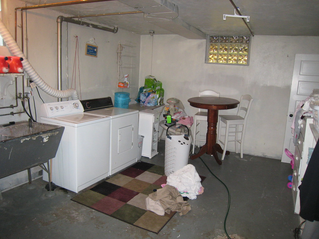 Unfinished Basement / Laundry Room  Chadica  Flickr