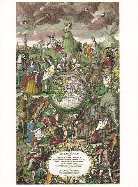 1745 Picture Atlas Novus Postcard
