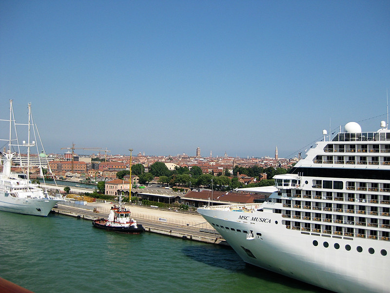 Fellow cruiseships in Venice