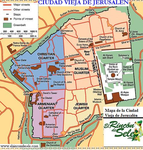 Mapa Ciudad Vieja Jerusalem 2 Jose Miguel Redondo Flickr