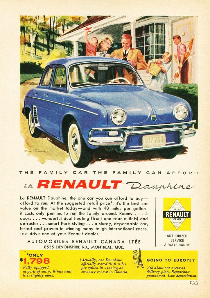 1959 Renault Dauphine Ad 1 Alden Jewell Flickr