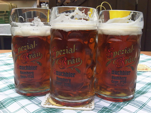 Rauchbier (beer smoked with beechwood) at the Spezial brewery in Bamberg. | by Ethan Prater