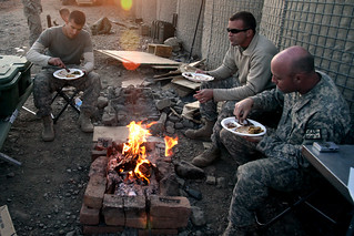 Thanksgiving on Combat Outpost Cherkatah, Khowst province, Afghanistan | by The U.S. Army