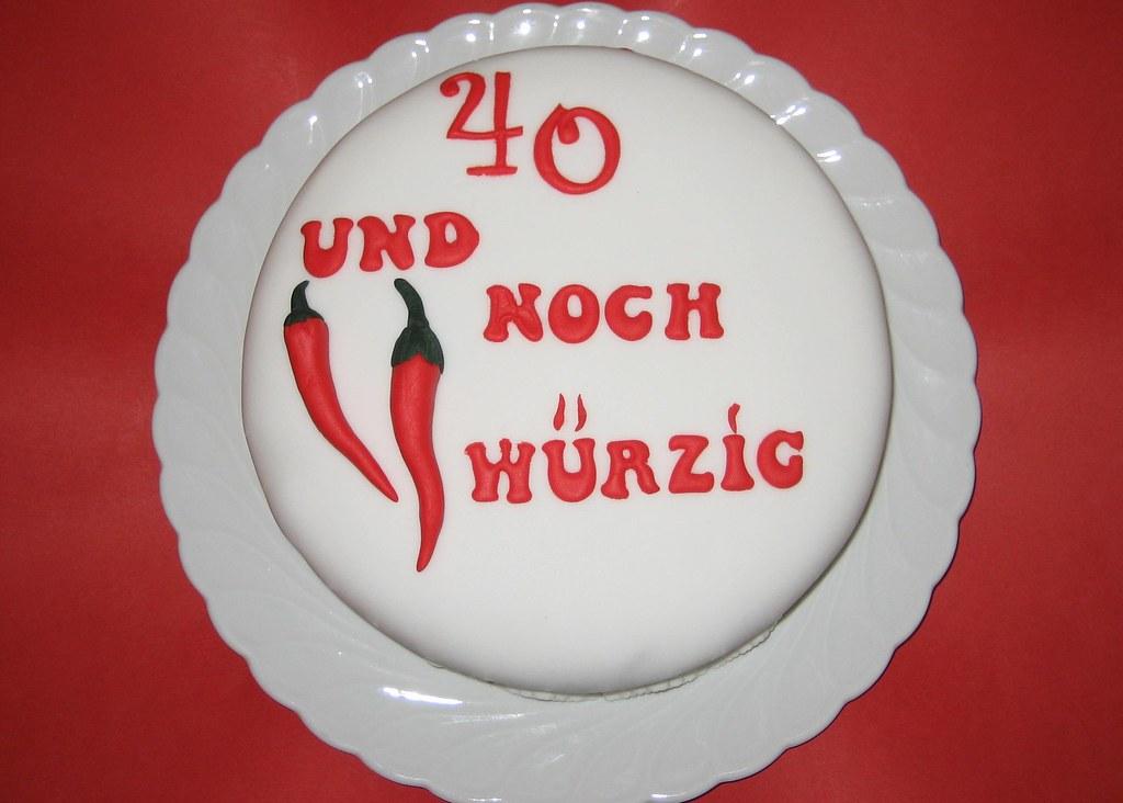 Geburtstag 40 torte