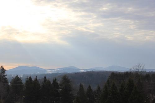 fog sunrise landscape interesting montpelier snowfilledhillside