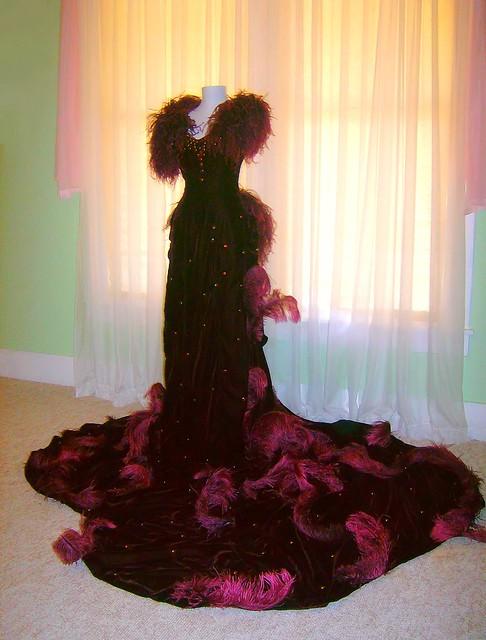 Scarlett O'Hara garnet red dress birthday