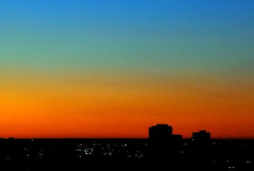 sky silhouette skyline sunrise buildings rainbow nikon downtown spectrum nikkor d80 nikond80 geo:lat=45417658 geo:lon=75701133
