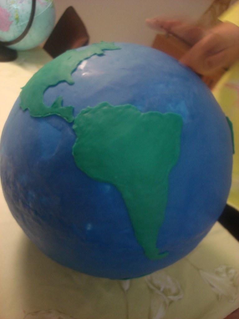 Planeta Terra | Bola de Isopor Enormeeee Coberta e
