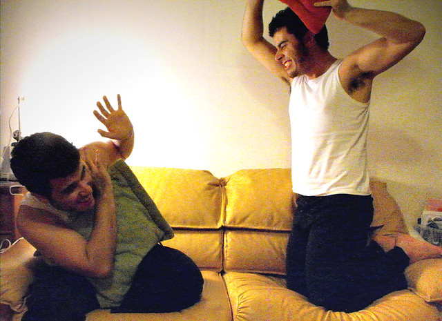 low resolution pillow fight