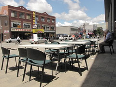 Outdoor YMCA Cafe on Durham Street Downtown Sudbury