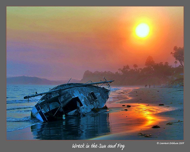 Wreckage in the Sun and Fog
