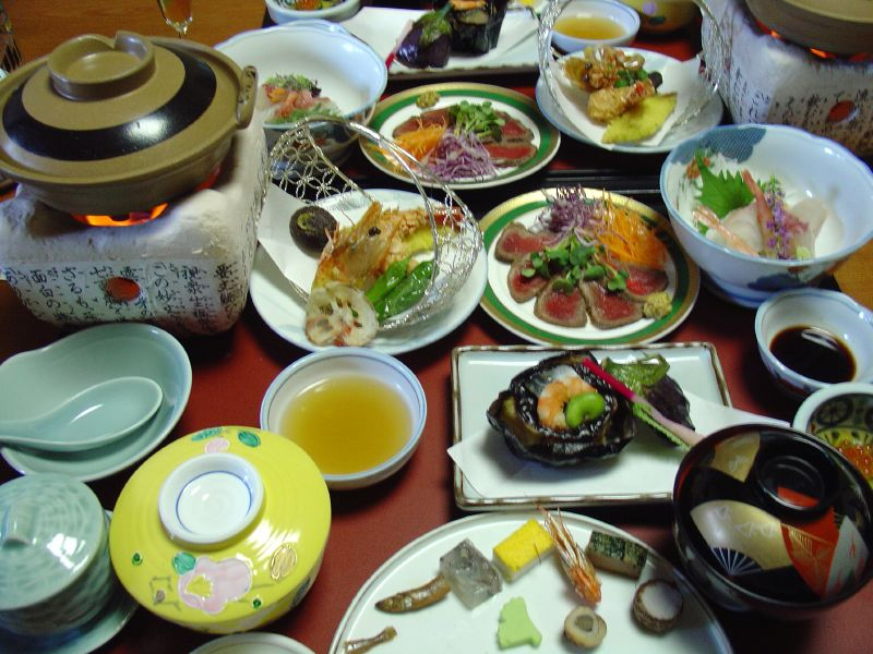 14 course Kaiseki Ryori meal served in our room, Delicious