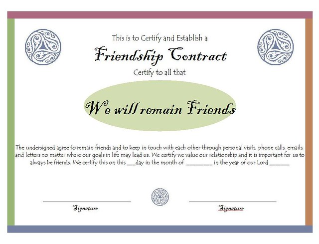 contract friendship
