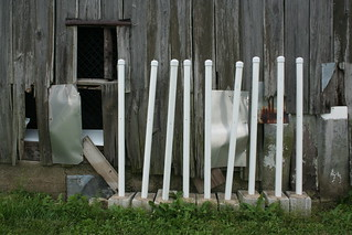 Barn with PVC Pipes in Concrete Blocks | by danxoneil