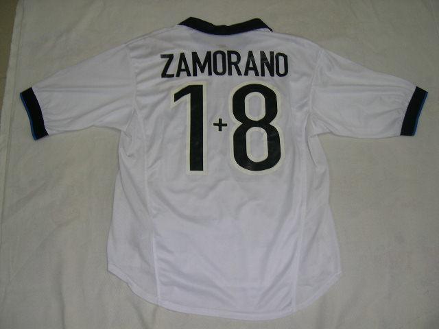 designer fashion c15a6 fcb15 98/99 Inter Milan Away Jersey S/S #1+8 ZAMORANO 2   球衣背面 ...