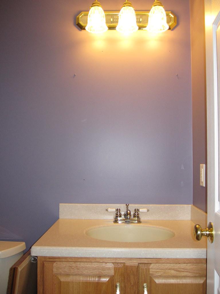 New 1/2 Bath Paint | Benjamin Moore Tropical Dusk 2117-40 ...
